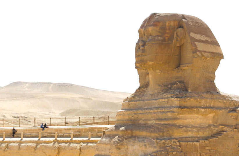 The sphinx at the Great Pyramidsof Giza, on the outskirts of Cairo. (photo credit: MOHAMED ABD EL GHANY/REUTERS)