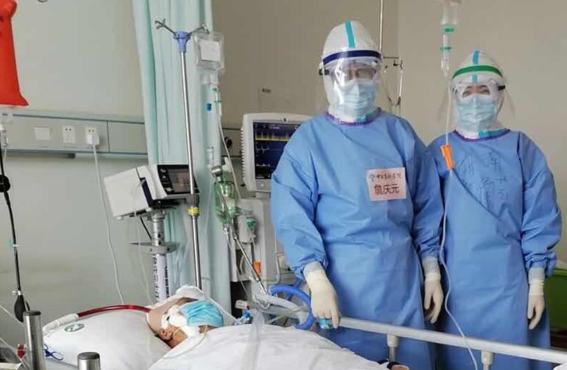 Hospitech's AnapnoGuard device being used in a Chinese hospital. (photo credit: HOSPITECH RESPIRATION)