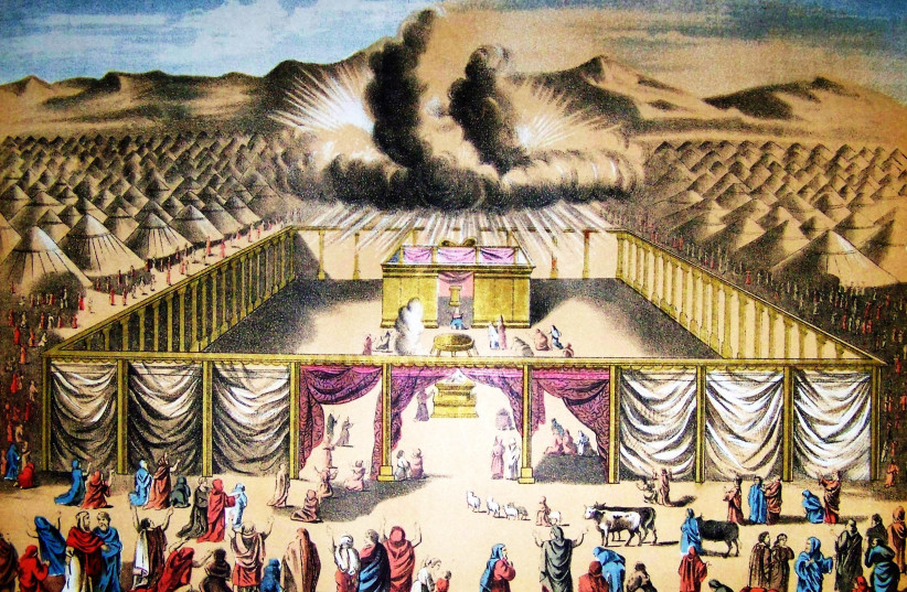 After a year of trial-and-error, the Hebrews built a Tabernacle – so that God could dwell within them (photo credit: Wikimedia Commons)