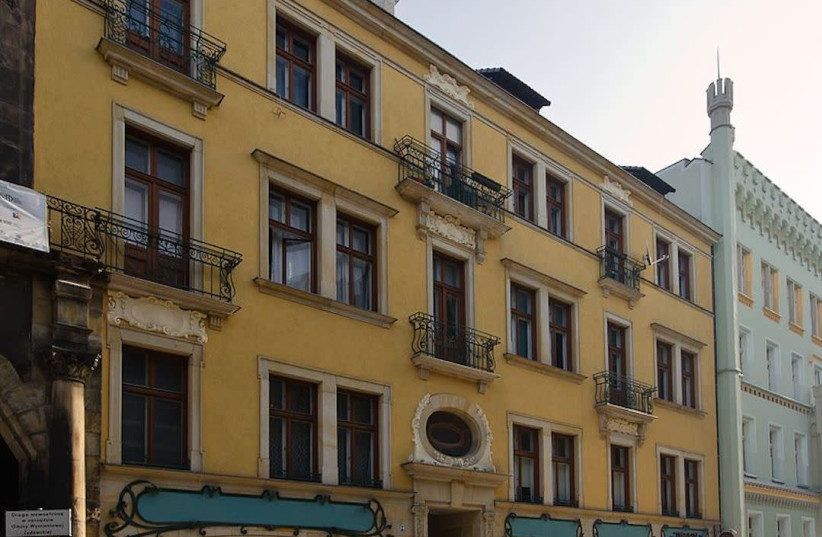 This building houses the Jewish Community of Wroclaw offices in the western Poland city. (photo credit: WIKIMEDIA COMMONS/JTA)