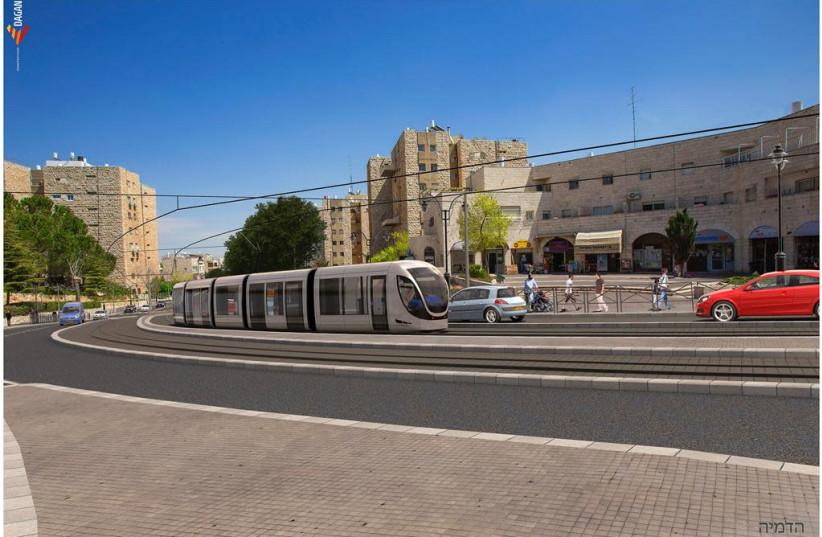 Planned extension of the Jerusalem Light Rail (photo credit: JERUSALEM TRANSPORT MASTER TEAM)