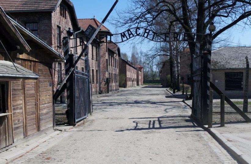 The entrance to Auschwitz (photo credit: AUSCHWITZ MUSEUM)
