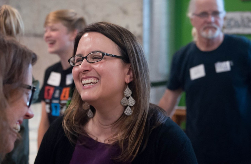 Katie Rosenberg campaigns in Wausau, Wis., June 27, 2019 (photo credit: BC KOWALSKI/WAUSAU CITY PAGES)