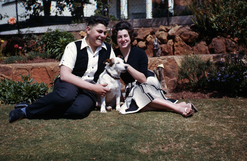 The writer and his sister Lynnette with the family watchdog Patchy in Johannesburg circa 1965 (photo credit: Courtesy)