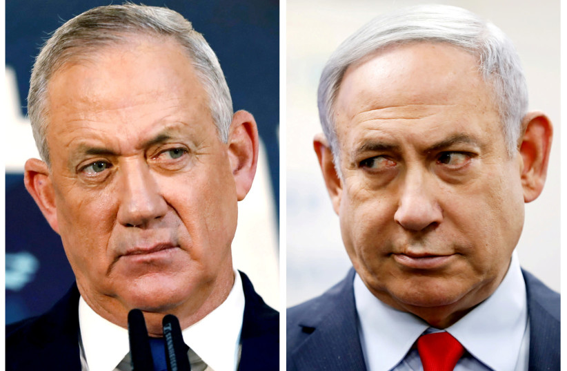 NETANYAHU AND Gantz – can they put their animosity aside and serve the public? (photo credit: CORINNA KERN AMIR COHEN REUTERS)