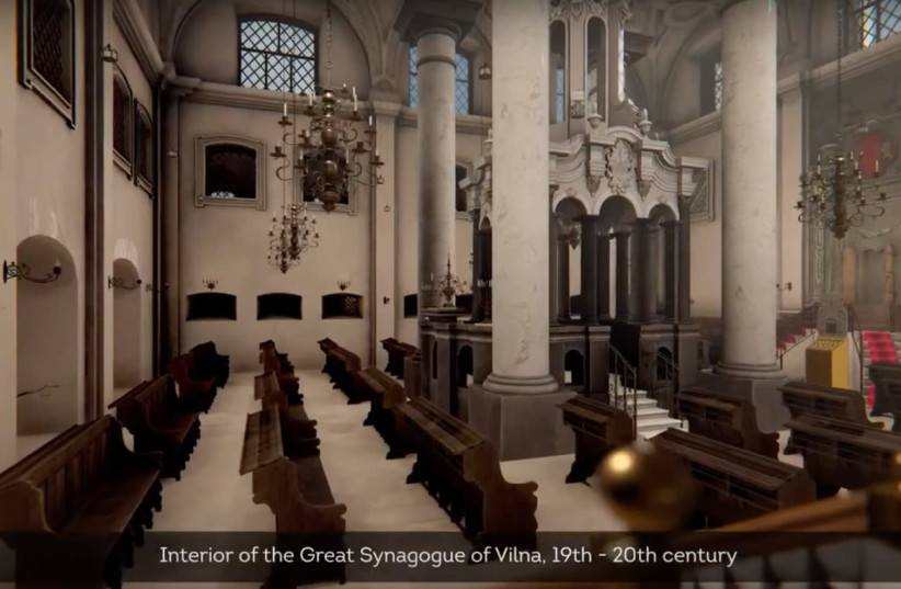 3D clip of the Great Synagogue of Vilna (photo credit: GO VILNIUS)