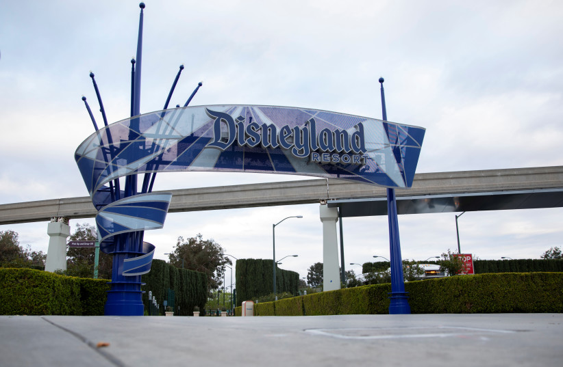WALT DISNEY'S Disneyland in Anaheim, California, has  been closed due to the global outbreak of the coronavirus. (photo credit: MIKE BLAKE/REUTERS)