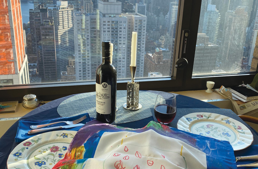 Celebrating Passover in New York with Israeli wine. (photo credit: Courtesy)