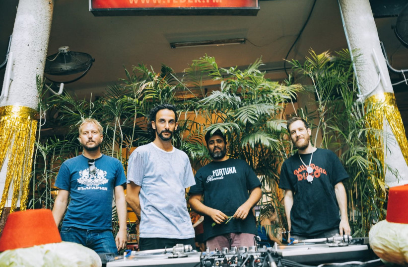 THE MEMBERS of Fortuna Records (left to right): Ariel Tagar, Zach Bar, Maor Anava and Yoav Magriso (photo credit: ARIEL A. EFRON)
