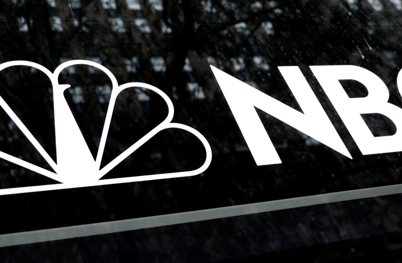 The NBC logo is seen outside the NBC News Today Show studios at Rockefeller Center in New York (photo credit: REUTERS)