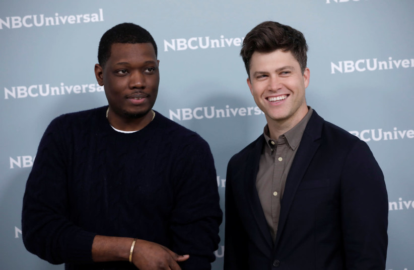 "Comedians Michael Che and Colin Jost from the NBC series ""Saturday Night Live: Weekend Update""  (photo credit: REUTERS)"