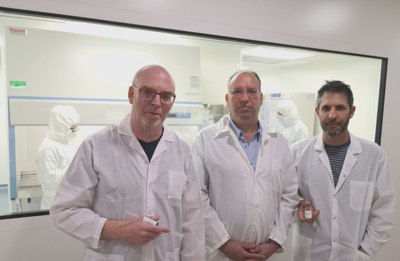 MesenCure development entrepreneurs (from right): Dr. Dror Ben David, Dr. Shai Meretzky and Tomer Bronstein (photo credit: Courtesy)