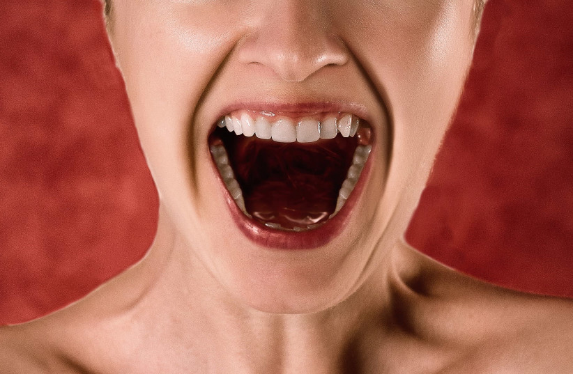 Woman shouting (illustrative) (photo credit: PIXABAY)