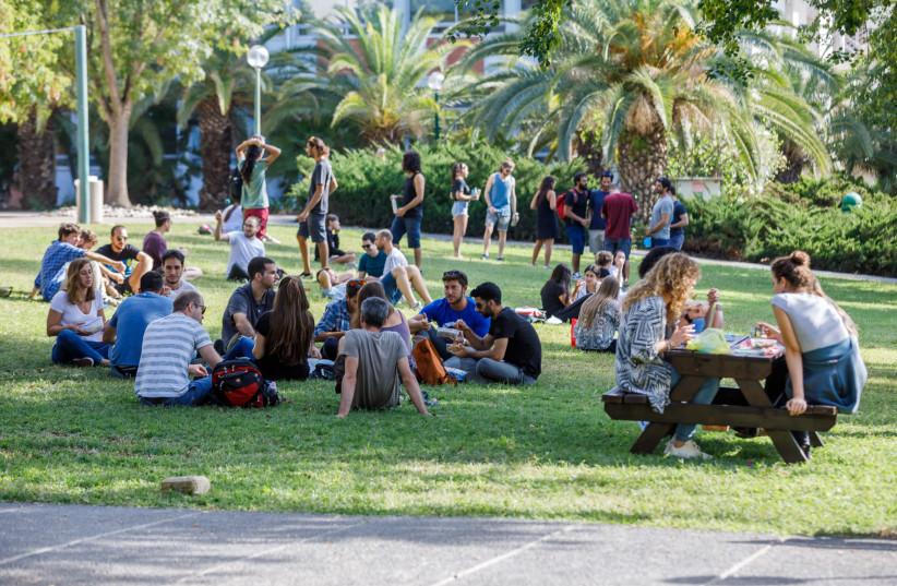 Students at the Hebrew University of Jerusalem. (photo credit: YORAM ASCHHEIM/THE HEBREW UNIVERSITY OF JERUSALEM)