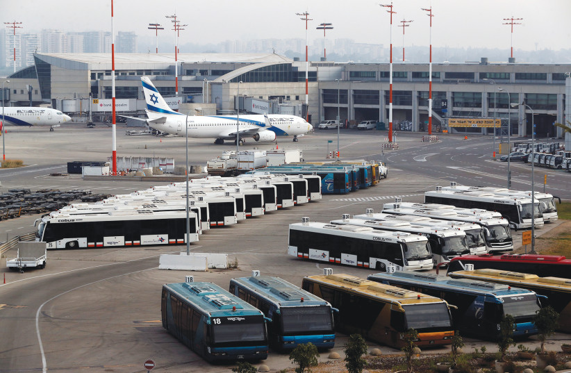 THE CLEAN HEALTH Aggregated Record Multi-pass (CHARM) would be an additional certification that assures Israel that the person who is entering its borders is not a potential risk for the security of others. (photo credit: REUTERS)