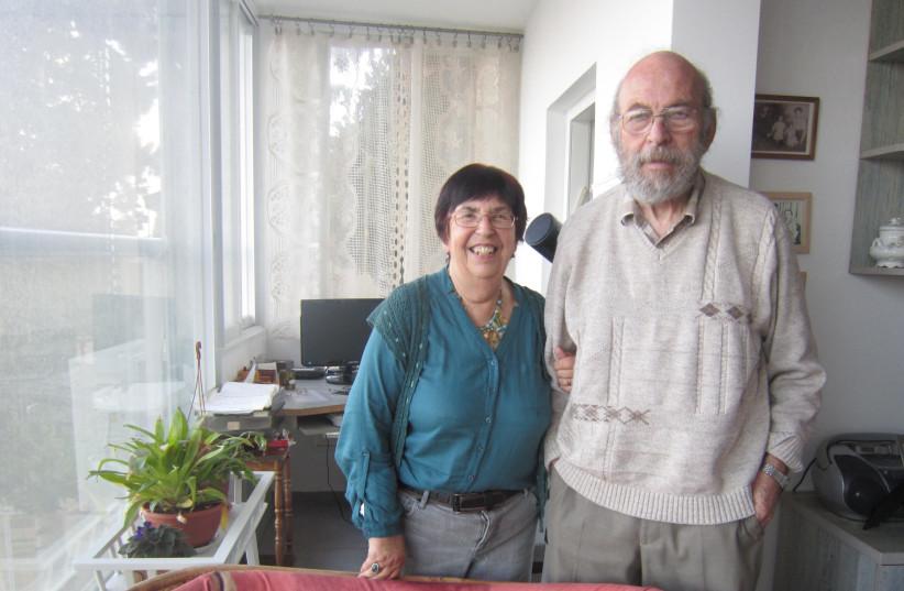 Wendy Blumfield and her late husband, David, in 2014 (photo credit: WENDY BLUMFIELD)