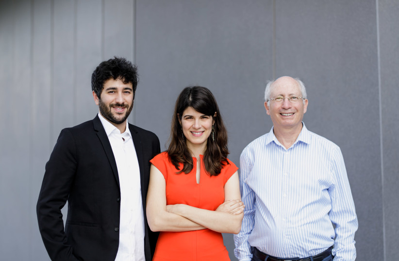 Diagnostic Robotics founders from left, Yonatan Amir, Kira Radinsky and Moshe Shoham (photo credit: Courtesy)