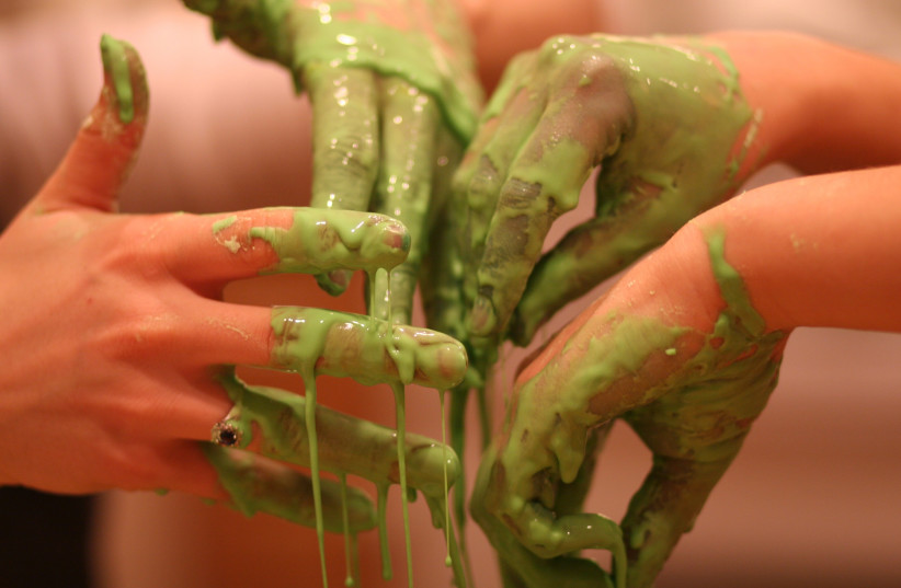 'WHAT IS Oobleck?' you may ask. Why, a slimy green substance coined by Dr. Seuss! (photo credit: ANDREW CURRAN/FLICKR)