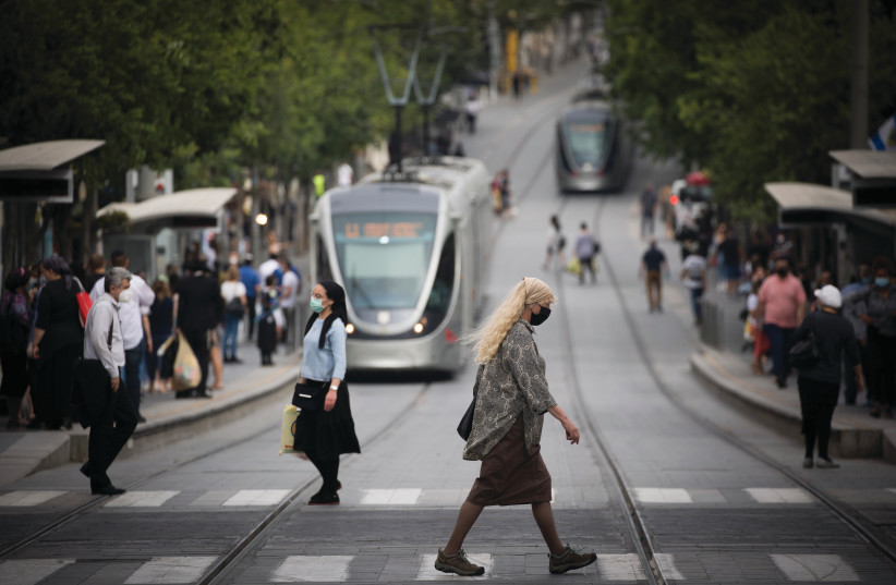 Israel's most populous city, Jerusalem, May 13, 2020 (photo credit: YONATAN SINDEL/FLASH 90)