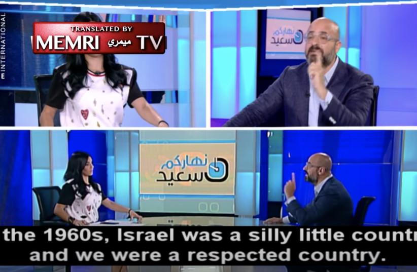 Lebanese Journalist Nadim Koteich is interviewed on LBC TV (photo credit: SCREENSHOT/MEMRI)
