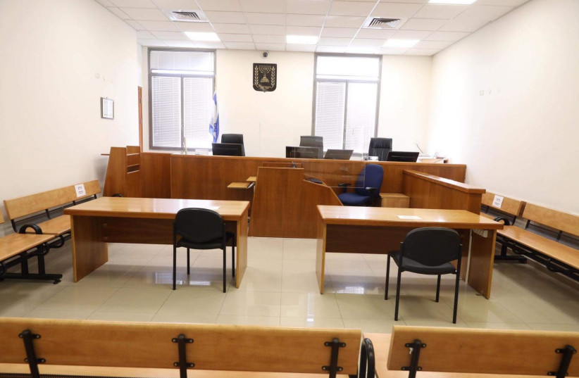 Courtroom 317, the scene of Prime Minister Benjamin Netanyahu's trial (photo credit: MARC ISRAEL SELLEM/THE JERUSALEM POST)