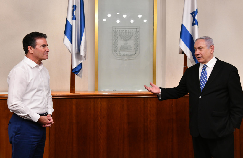 Prime Minister Benjamin Netanyahu meets with Head of Mossad Yossi Cohen (photo credit: HAIM ZACH/GPO)