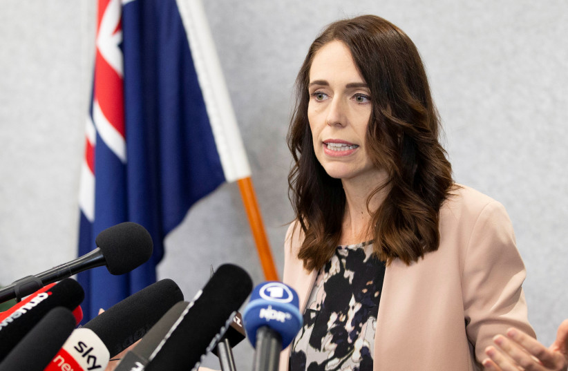 New Zealand Prime Minister Jacinda Ardern during a news conference in Christchurch, New Zealand, March 13, 2020. (photo credit: REUTERS/MARTIN HUNTER)