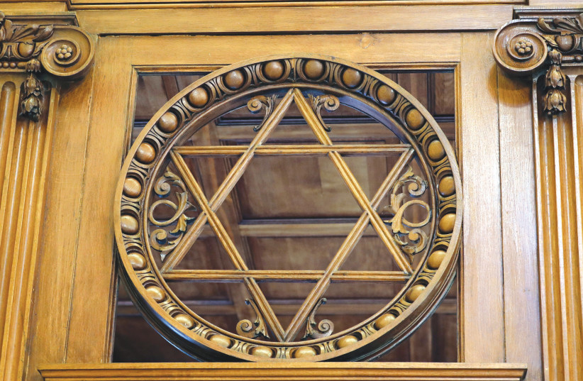 A STAR of David on a synagogue. (photo credit: REUTERS)