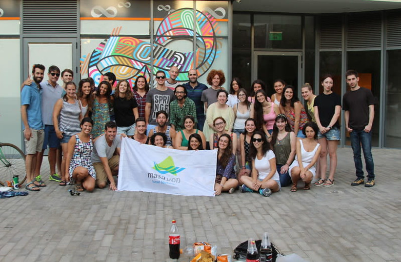 Participants in a Masa Israel Journey program (photo credit: MASA ISRAEL JOURNEY)