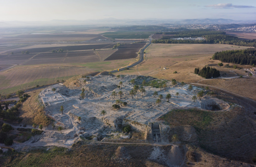 Views of Megiddo, the ancient city from where most of the Canaanite DNA samples were taken. (photo credit: MEGIDDO EXPEDITION)