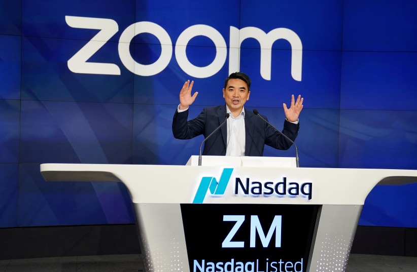 Eric Yuan, CEO of Zoom Video Communications (photo credit: REUTERS/CARLO ALLEGRI)