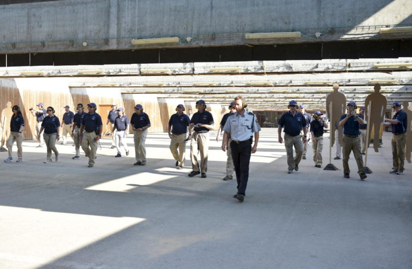 Israel Police National Spokesman Micky Rosenfeld trains a US delegation in counterrorism techniques - September 2019 (photo credit: POLICE SPOKESPERSON'S UNIT)