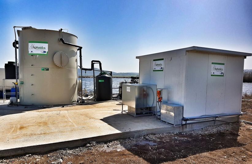 An AgRobics wastewater treatment facility (photo credit: AGROBICS)