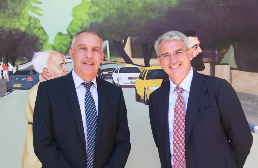 Italian ambassador to Israel Gianluigi Benedetti and President of the Afeka College Ami Moyal.  (photo credit: Courtesy)