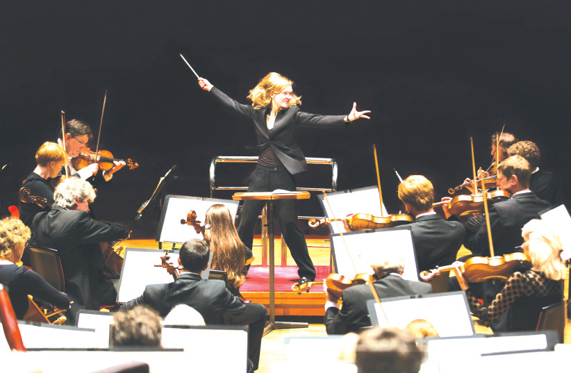 A SCENE from the film 'Going for the Impossible – The Conductor Mirga Gražinyte-Tyla.' (photo credit: BEN EALOVEGA)