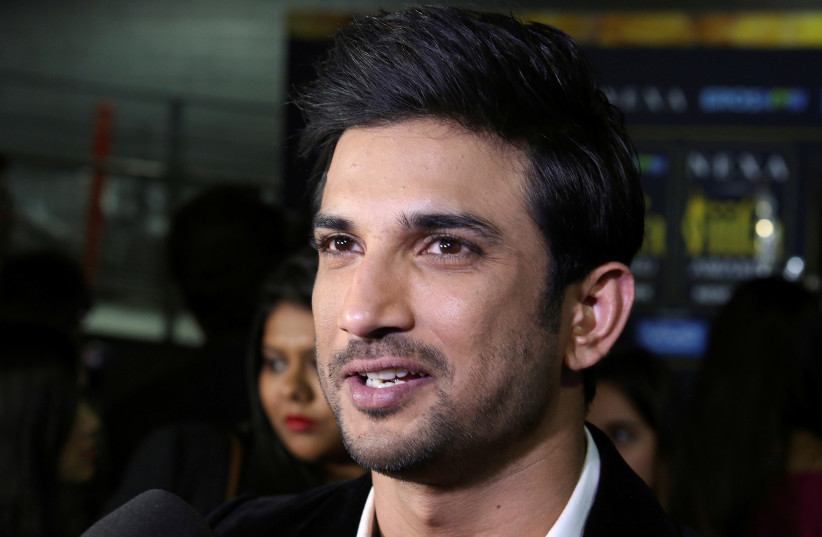 File picture of actor Sushant Singh Rajput talking to the press at the International Indian Film Academy Rocks show at MetLife Stadium in East Rutherford, New Jersey, U.S., July 14, 2017 (photo credit: REUTERS)