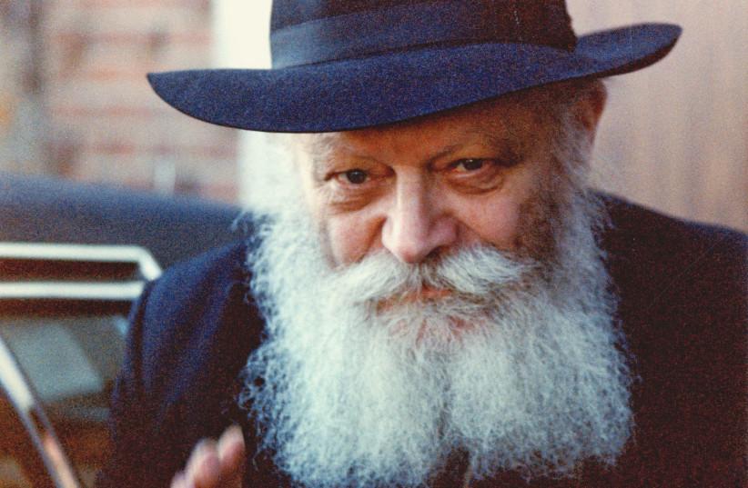 MENACHEM MENDEL SCHNEERSON, the beloved Lubavitcher Rebbe. (photo credit: ZEV MARKOWITZ/CHAIARTGALLERY.COM)