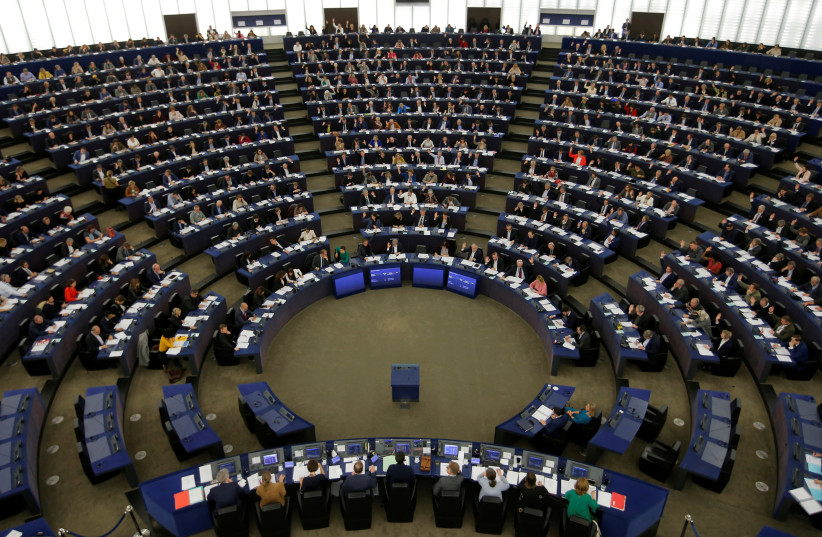 MEPs take part in a voting session at the European Parliament in Strasbourg (photo credit: REUTERS)
