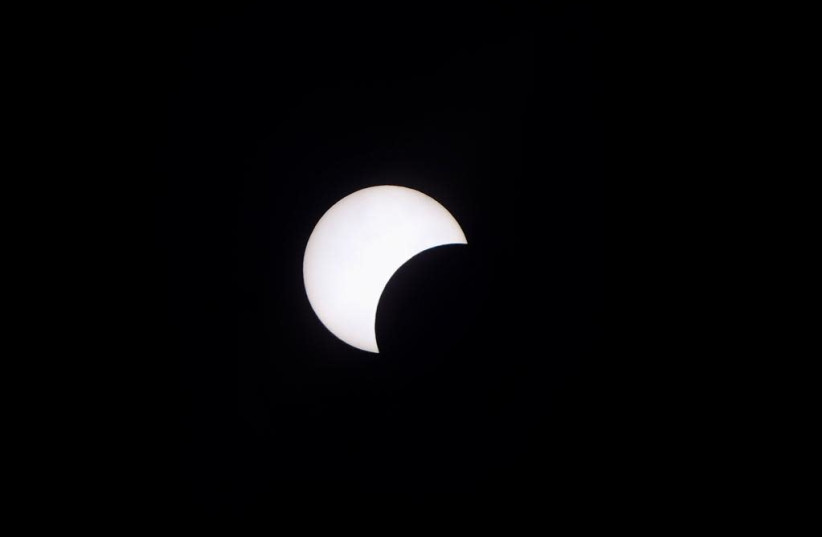 Solar eclipse over Israel, June 21, 2020 (photo credit: AVSHALOM SASSONI)