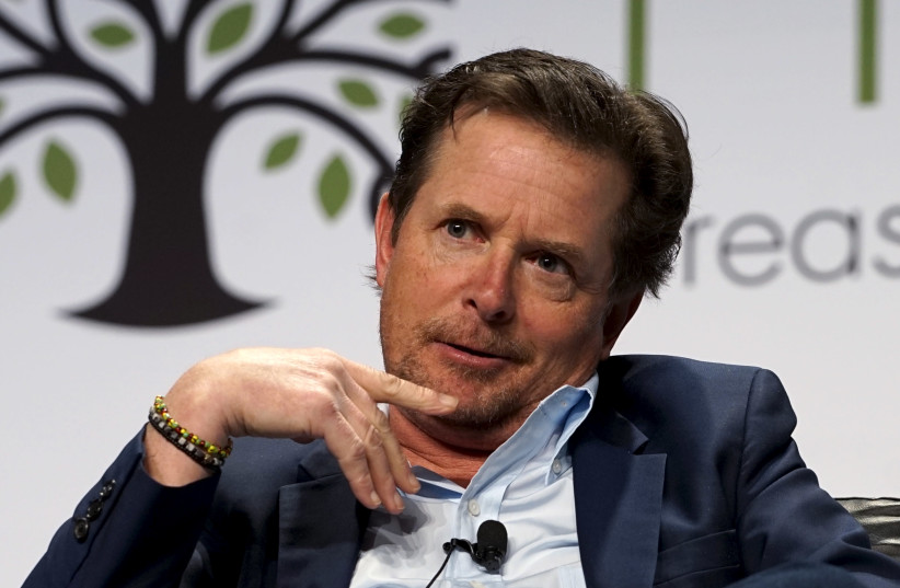 Actor Michael J. Fox speaks during a panel discussion on Parkinson's disease during lunch at the annual Skybridge Alternatives Conference (SALT) in Las Vegas May 6, 2015. (photo credit: RICK WILKING/REUTERS)
