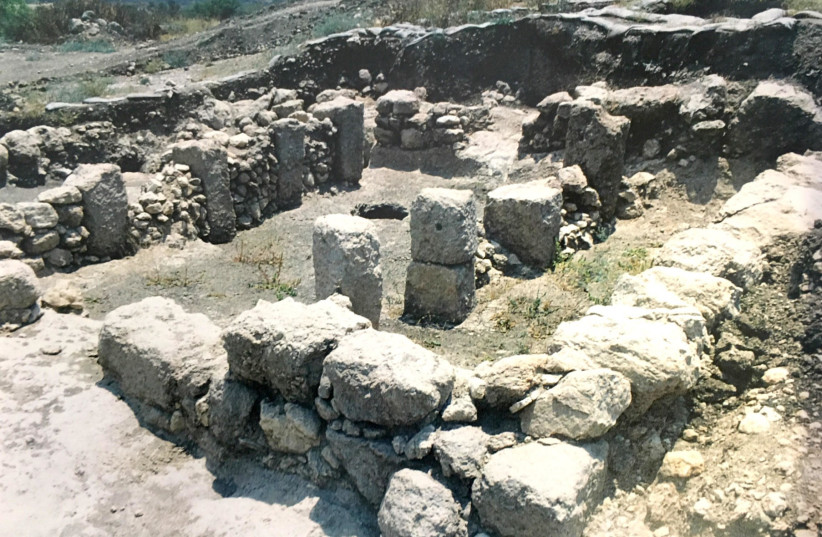 Building at Tel Hadid dating back to the eighth and seventh centuries B.C.E. (photo credit: COURTESY OF THE TEL HADID EXPEDITION)