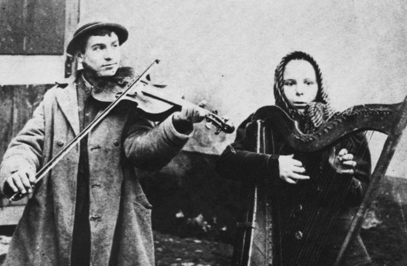 JEWISH MUSICIANS in Russia, 1890: The exiled Jews in the second era of Judaism were perceived by Europeans just as they were by the Edomites.  (photo credit: PAUKRUS/FLICKR)