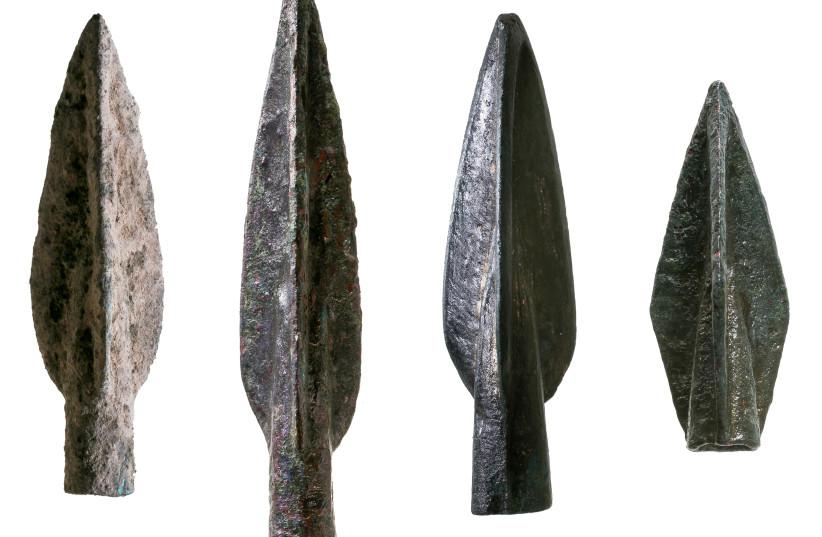 Scythian-Iranian arrowheads (photo credit: INSTITUTE OF ARCHAEOLOGY/TEL AVIV UNIVERSITY)