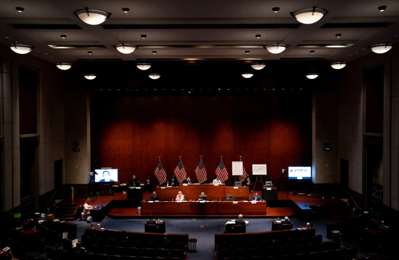 US Justice Department employees testify before the US House Judiciary Committee, in Washington, June 24, 2020 (photo credit: REUTERS)