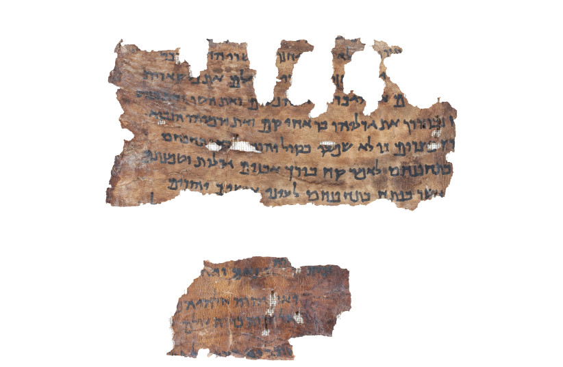 Jeremiah Dead Sea Scroll (photo credit: COURTESY OF SHAI HALEVY/ISRAEL ANTIQUITIES AUTHORITY)