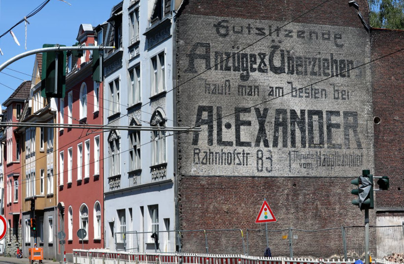 Another structure protected the Alexander family's century-old mural in Gelsenkirchen, Germany. (photo credit: COURTESY OF GELSENZENTRUM E.V.)