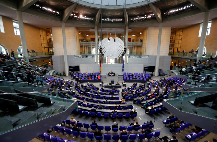 A  general view during a session of the lower house of parliament Bundestag, in Berlin, Germany July 1, 2020 (photo credit: REUTERS/FABRIZIO BENSCH)