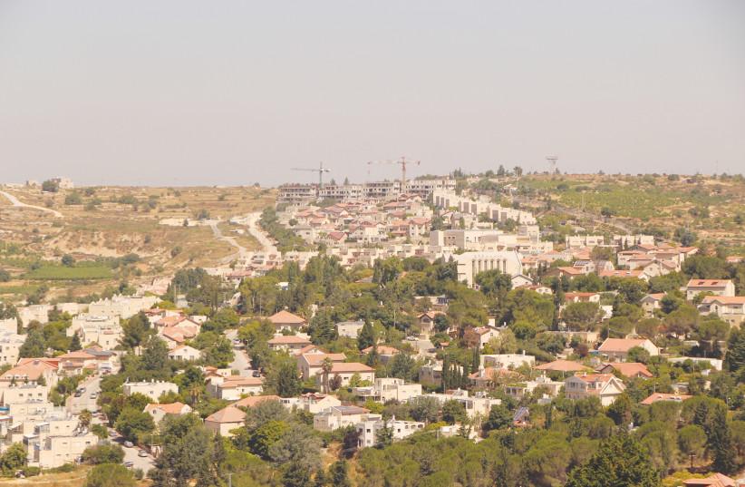 THE SETTLEMENT of Elazar, 18 km. south of Jerusalem, as it looked last week. (photo credit: GERSHON ELINSON/FLASH90)