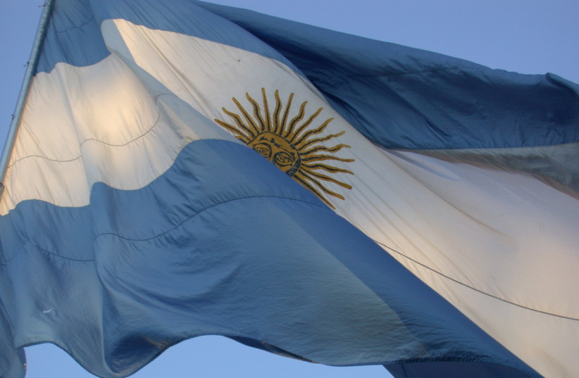 Argentina's flag in Buenos Aires (photo credit: CREATIVE COMMONS)