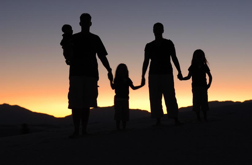 Family, illustrative (photo credit: ERIC WARD/WIKIMEDIA COMMONS)